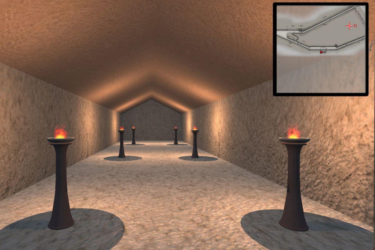 Interior de la Pirámide de Kefrén.