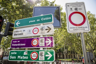 Avisos de entrada a Madrid Central