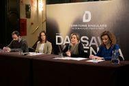 Gabi Ochoa, Mar Jiménez, Raquel Tamarit y Maite Ibáñez durante la presentación de Dansa València.