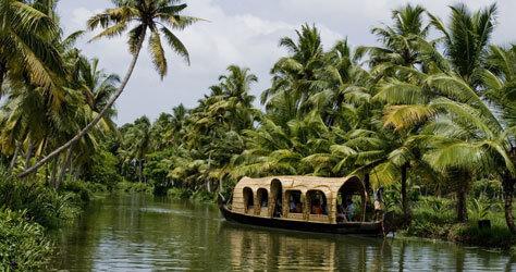 Las casas flotantes de Cochín, en Kerala.