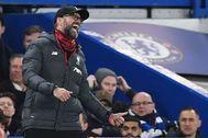 Klopp, durante el partido contra el Chelsea.