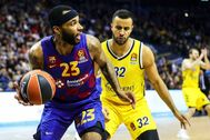 Berlin (Germany).- lt;HIT gt;Barcelona lt;/HIT gt;'s Malcolm Delaney (L) in action against Berlin's Johannes Thiemann (R) during the Euroleague basketball match between Alba Berlin and FC lt;HIT gt;Barcelona lt;/HIT gt; in Berlin, Germany, 04 March 2020. (Baloncesto, Euroliga, Alemania) EPA/