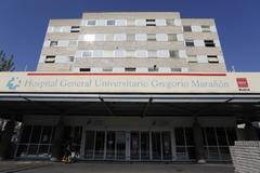 Entrada al Hospital Gregorio Marañón.
