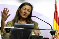 Victoria Rosell, delegada del Gobierno contra la Violencia de Género, en rueda de prensa.