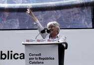 Clara Ponsatí el pasado sábado en Perpiñán.