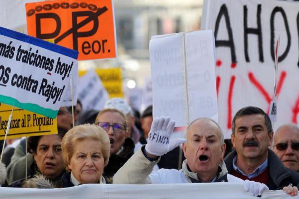 Protesta de afectados de Fórum Filatélico y Afinsa, en una imagen de archivo.