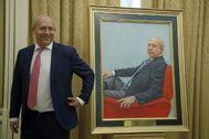 José Ignacio Wert, durante el acto de colocación de su retrato en la sede del Ministerio de Educación, Cultura y Deportes.