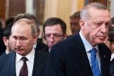 Vladimir Putin y  Recep Tayyip Erdogan, este jueves en Moscú.