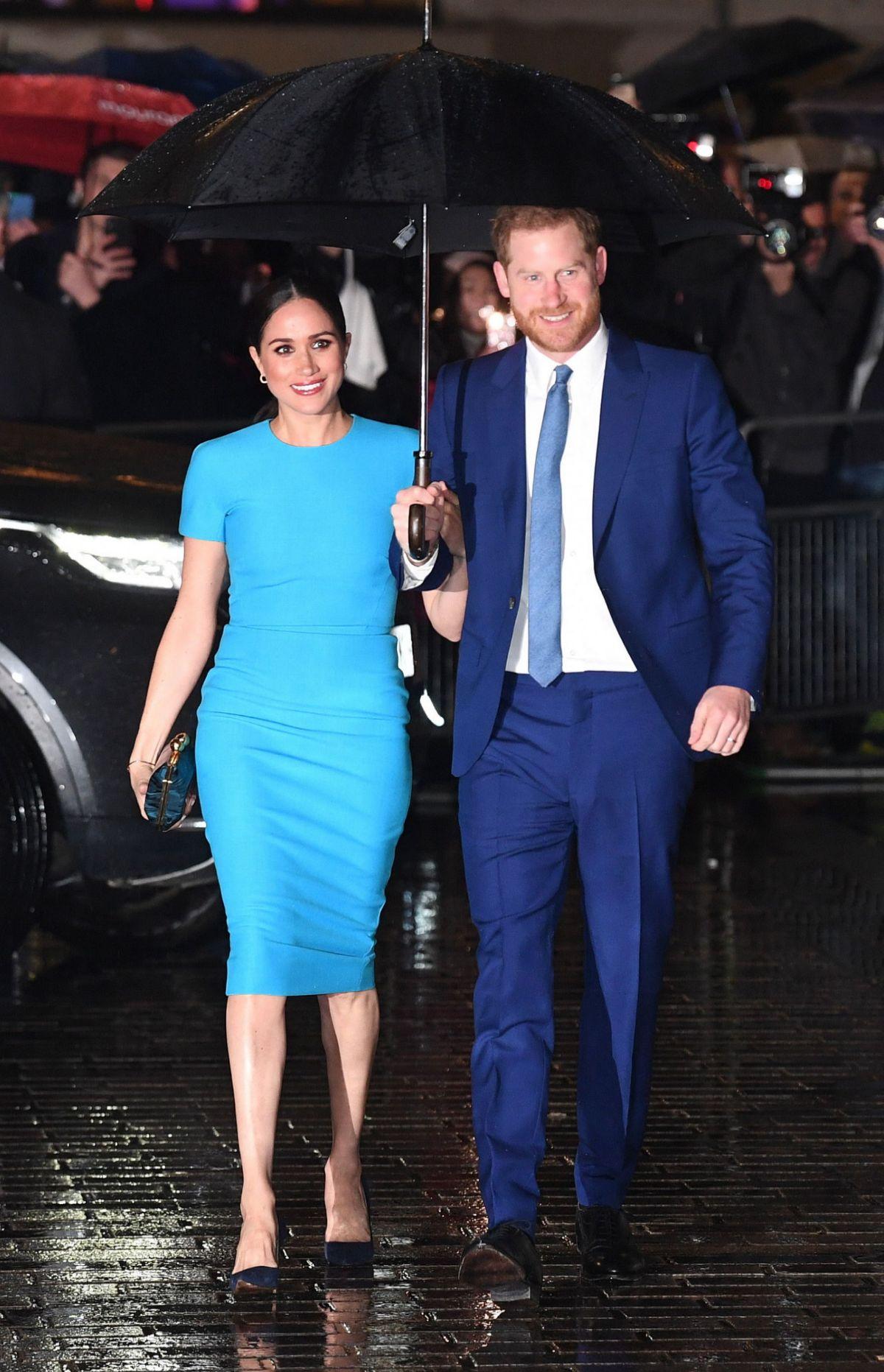 Los duques de Sussex, a su llegada a la gala.