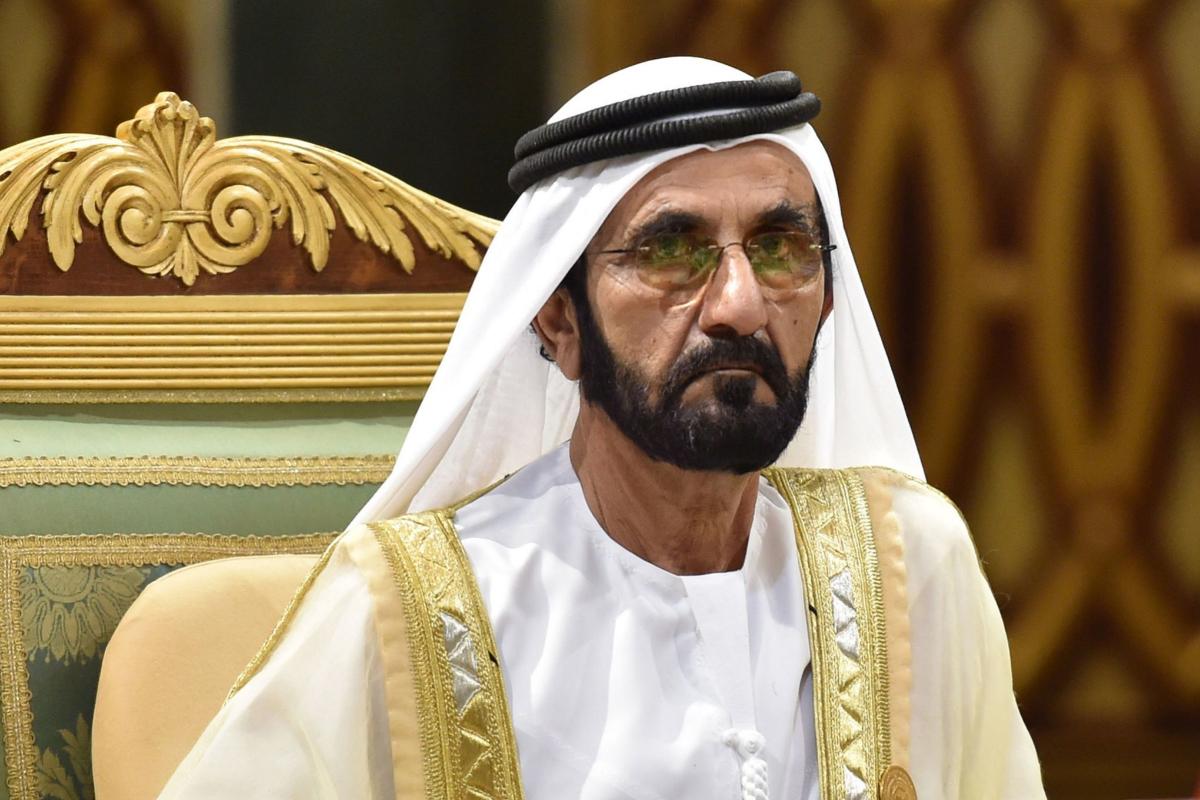 El emir de Dubai Mohammed bin Rashid Al-Maktoum.