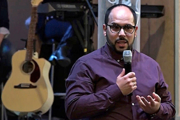 Miguel Ángel Manso, pastor de la Iglesia Apostólica Pentecostal, este domingo.