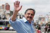 Ricardo Alfonsín, en una imagen tomada durante una campaña electoral en 2011, en Buenos Aires.