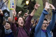 Manifestación feminista el pasado 8 de marzo en Madrid
