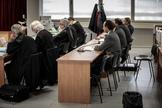 Los cuatro acusados por el supuesto desfalco en el Palau de les Arts, ahora absueltos, durante la vista oral.