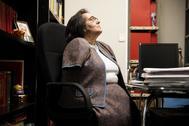 La abogada María Pilar Rodríguez Velasco, en su despacho en el centro de Madrid.