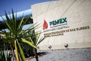 Centro industrial de Pemex en México.