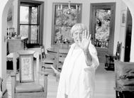 Ursula K. Le Guin en su casa de Portland (EEUU).
