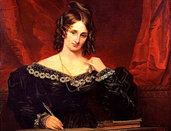 Mary Shelley (1831), retratada por Stump.