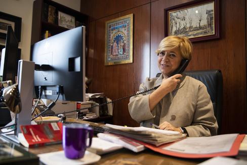 Ana Ferrer, en su despacho del Tribunal Supremo, esta semana.