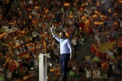 El presidente de Vox, Santiago Abascal, en su último acto en Vistalegre (Madrid).