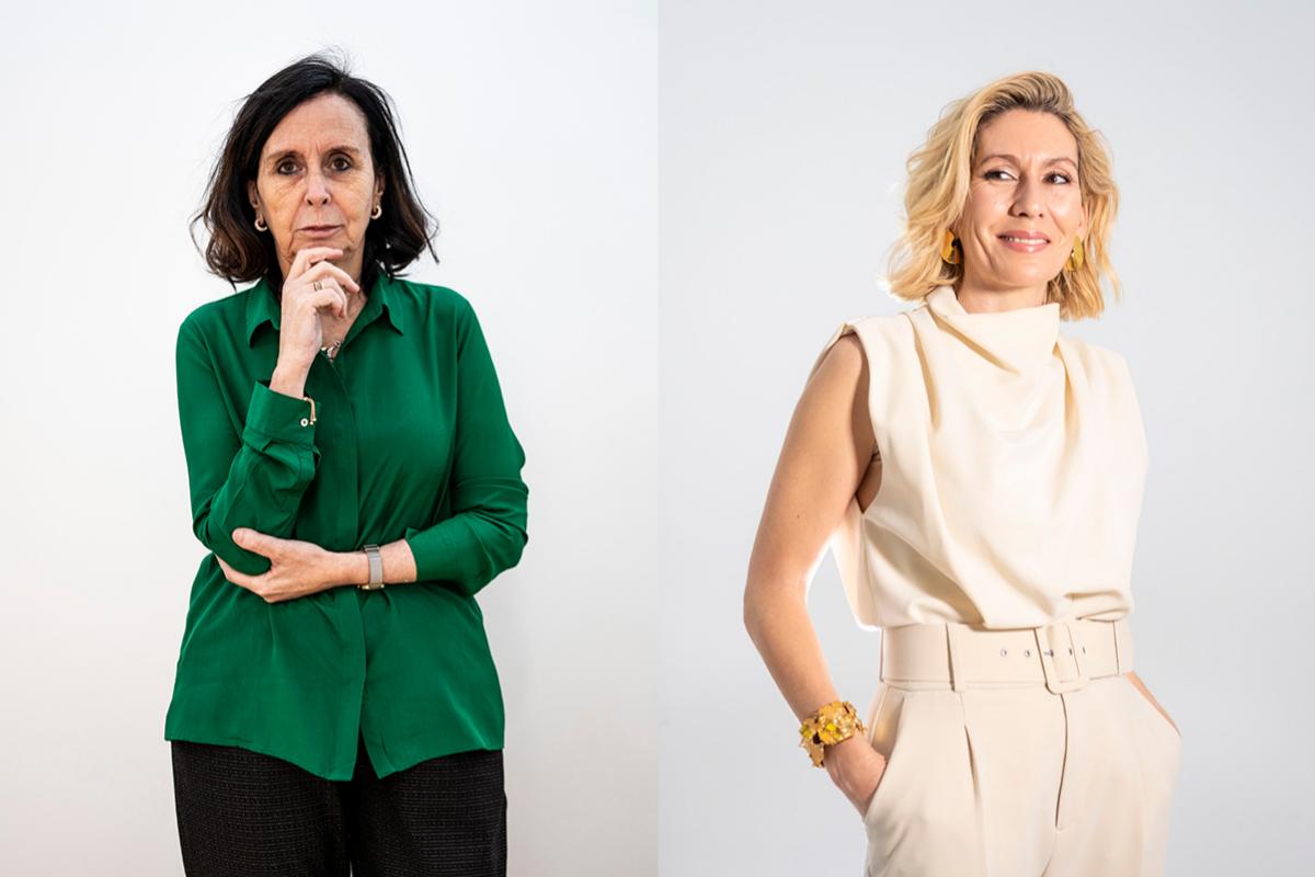 María Emilia Casas y Pilar Cuesta.