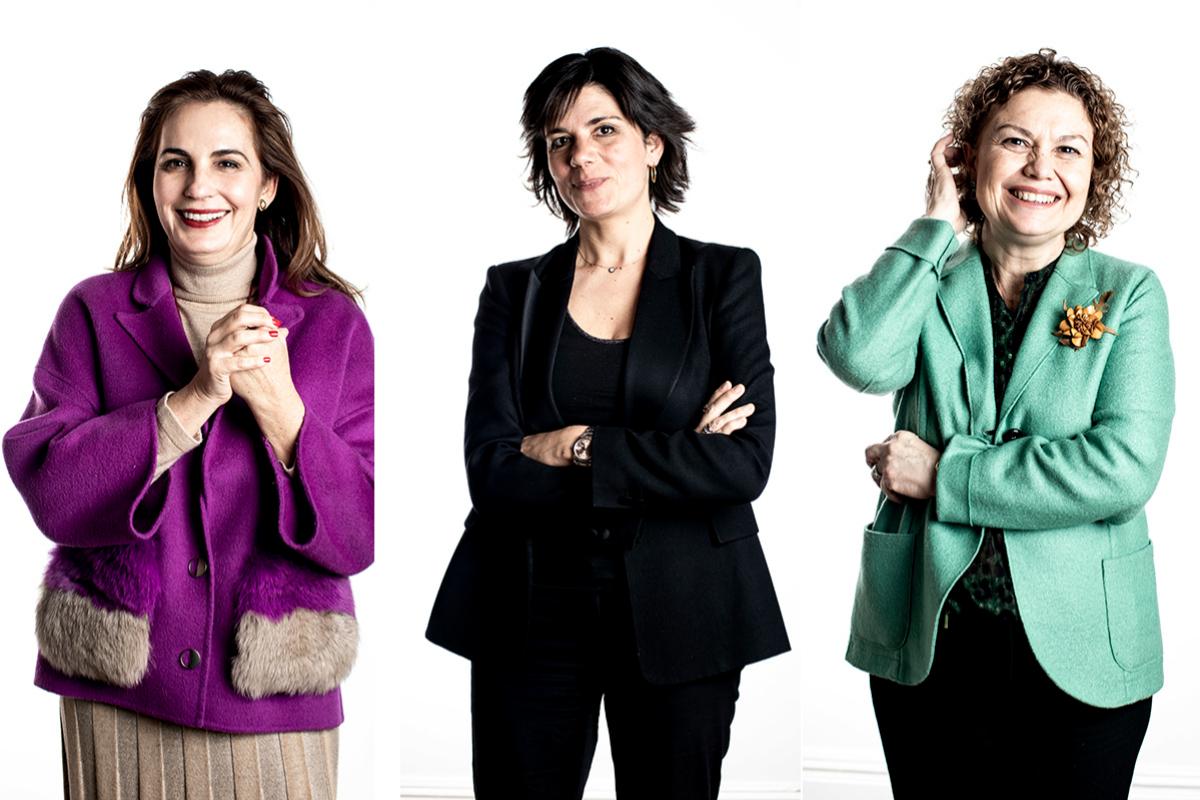 Ana López-Monís, Montserrat Surroca y María Emilia Adán.