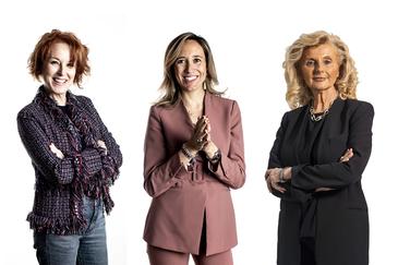 La periodista Gloria Lomana y las abogadas Marlén Estévez e Isabel Tocino.