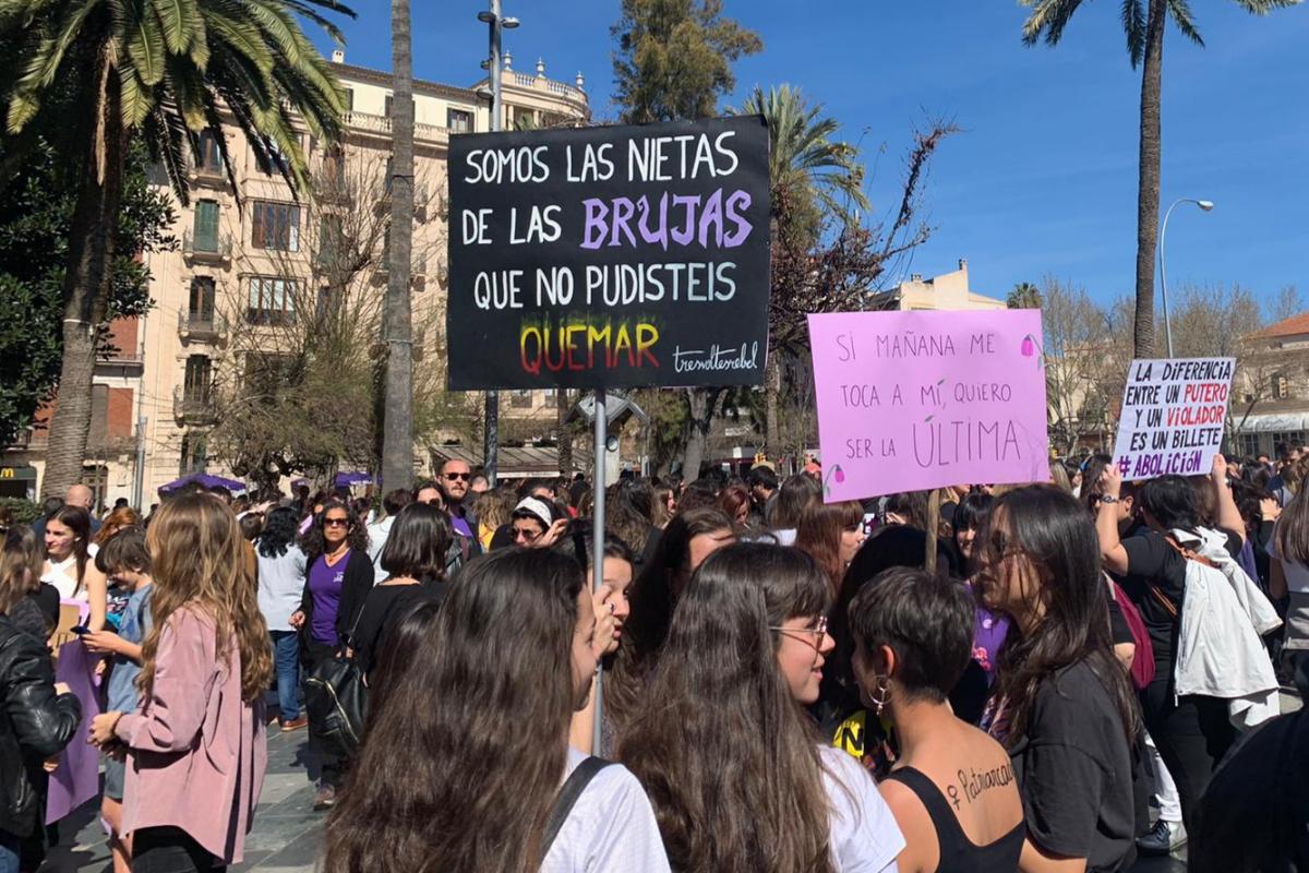 Manifestación en Palma por el Día de la Mujer.