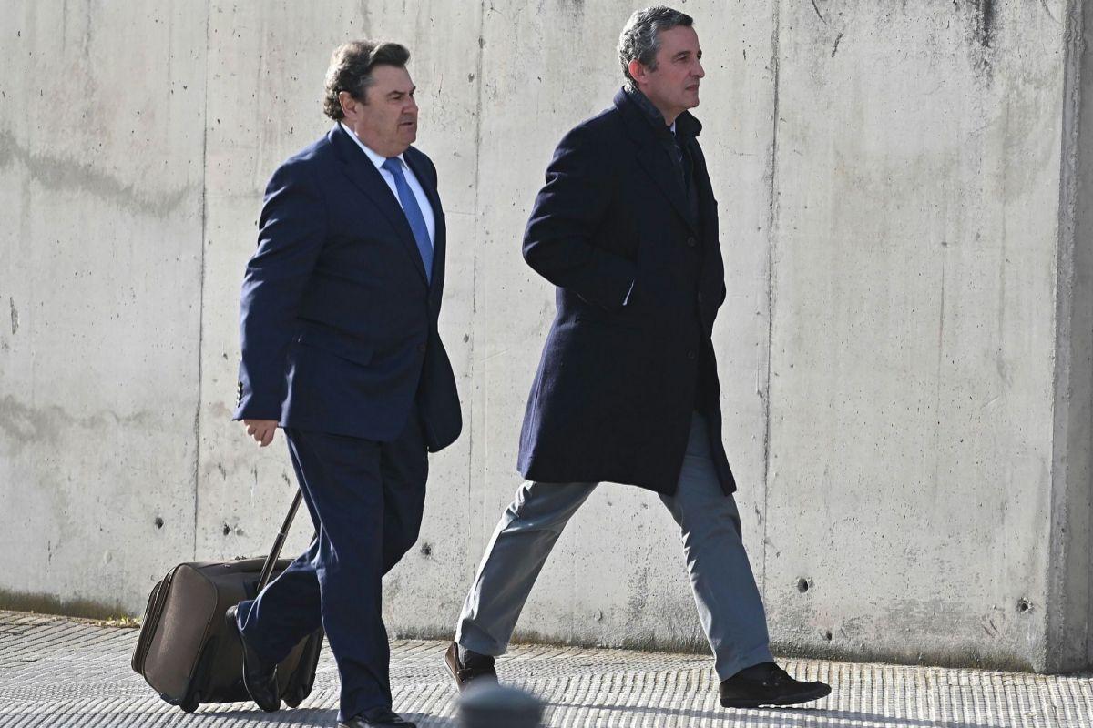 El ex director de RTVV, Pedro García, en la puerta de la Audiencia Nacional.