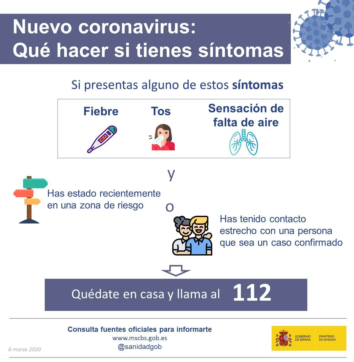 Pautas de Sanidad ante posibles contagios de coronavirus