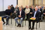De izqda. a dcha., Álvaro Pérez, Francisco Correa y Pablo Crespo, en la Audiencia Nacional.