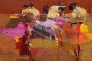 Detalle de uno de los óleos del artista colombiano Diego Ramos que ilustran el número de Quites.