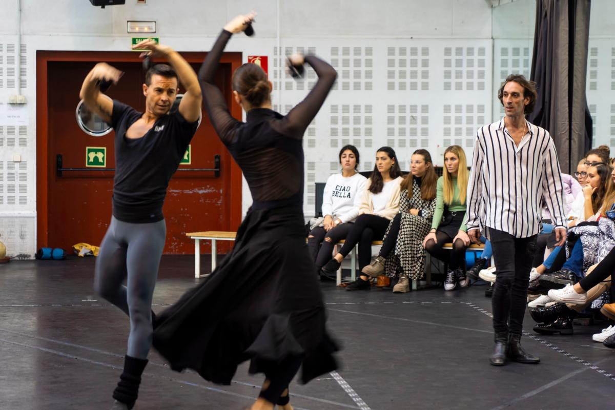 El director del Ballet Nacional, durante los ensayos.