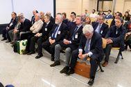 Los acusados en la causa por la visita del Papa a Valencia en 2006, este lunes en el banquillo de la Audiencia Nacional.