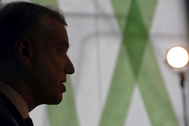 El 'lehendakari' y candidato del PNV a la Presidencia del País Vasco, Iñigo Urkullu, este lunes, en Bilbao.