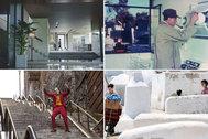 Fotogramas de 'Parásitos', 'Mi tío', 'Joker' y 'Dolor y gloria'.