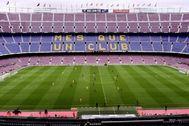 El Camp Nou, en el Barça-Las Palmas de 2017.