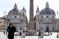 Las calles de Roma, más vacías que de costumbre.