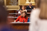 La presidenta de Baleares, Francina Armengol, en un pleno del Parlamento balear.