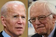 Joe Biden y Bernie Sanders, candidatos demócratas a la Casa Blanca.