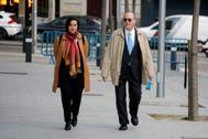 El ex presidente del Banco de España Luis María Linde a su llegada este martes a la Audiencia Nacional.