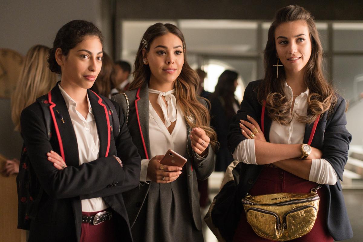 Mina El Hammani (izquierda), Danna Paola (centro) y Claudia Salas.