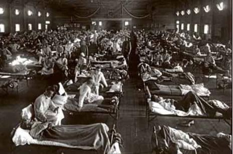 Primeros soldados norteamericanos afectados por la gripe española.