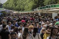 Edición de 2018 de la Feria del Libro de Madrid.