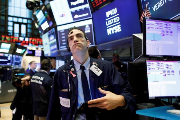 Operador de bolsa en la sesión de Wall Street.