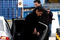 El Mayor de los Mossos Josep Lluis Trapero, a su llegada a la Audiencia Nacional durante el juicio.
