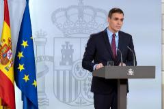 El presidente del Gobierno, Pedro Sánchez, tras el Consejo de Ministros de ayer
