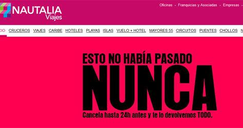 Nautalia ofrece la posibilidad de cancelaciones con 24 horas de antelación.