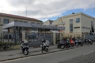 Entrada a la planta de Mercedes Benz en Vitoria.
