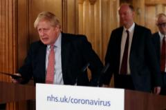 Boris Johnson, el pasado jueves, durante su anuncio.